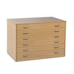 6 Drawer Plan Chest With Drawer Stops