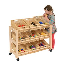 Single 9 Wicker Basket Classroom Tidy