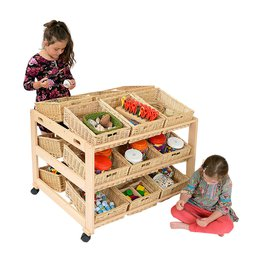 Double 18 Wicker Basket Classroom Tidy