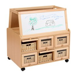 DS Unit With Doors, Dry Wipe Magnetic Easel and Baskets