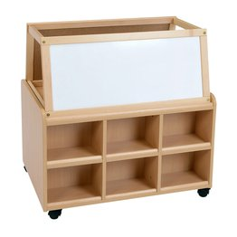 DS Storage Unit With Dry Wipe Magnetic Easel
