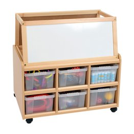 DS Storage Unit With Dry Wipe Magnetoc Easel and Deep Trays