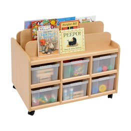 Book Display Unit/Storage With Deep Trays