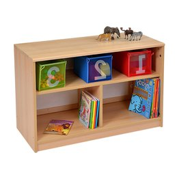 RS Open Bookcase With Mirror Inset Panel