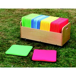 Rainbow Square Cushionsn & Tuf 2 Trolley Set Of 32