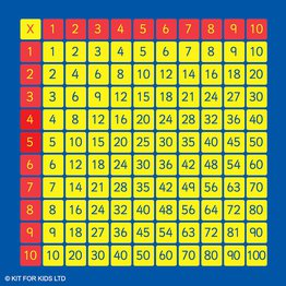 100 Square Multiplication Mat